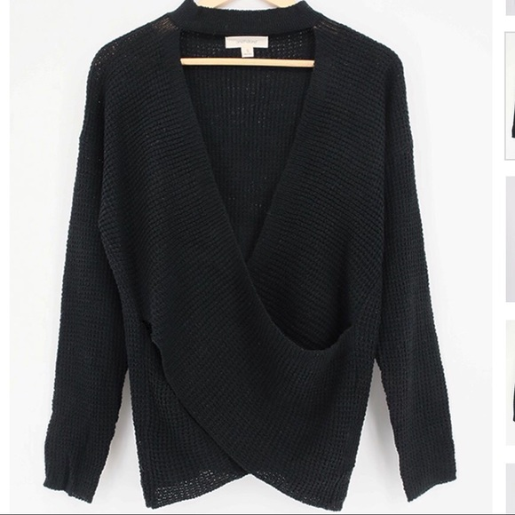 ecef754bf3a69f Four Hearts Boutique Tops   Last One Blairs Knit Wrap Sweater   Poshmark